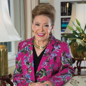 "America's ""Queen of Suspense,"" novelist MARY HIGGINS CLARK (1927-2020). Photo © Bernard Vidal."