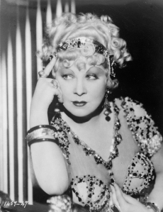 MAE WEST as she appeared in the Paramount film, I'M NO ANGEL (1933).  Photo: General Photographic Agency/Getty Images.