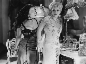 Rafaela Ottiano and Mae West heat up the screen in SHE DONE HIM WRONG (1933). Photo © Paramount Pictures.