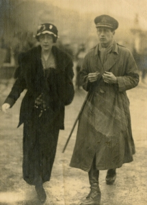 Agatha Christie with her first husband, Archie Christie. Following the breakdown of their marriage, Christie mysteriously disappeared for 11 days, which became a national news story. Photo courtesy Christie Archive Trust.