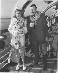 Ernest Hemingway and his third wife, war correspondent Martha Gellhorn, en route to China in 1941.